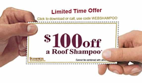 $100 off a roof shampoo