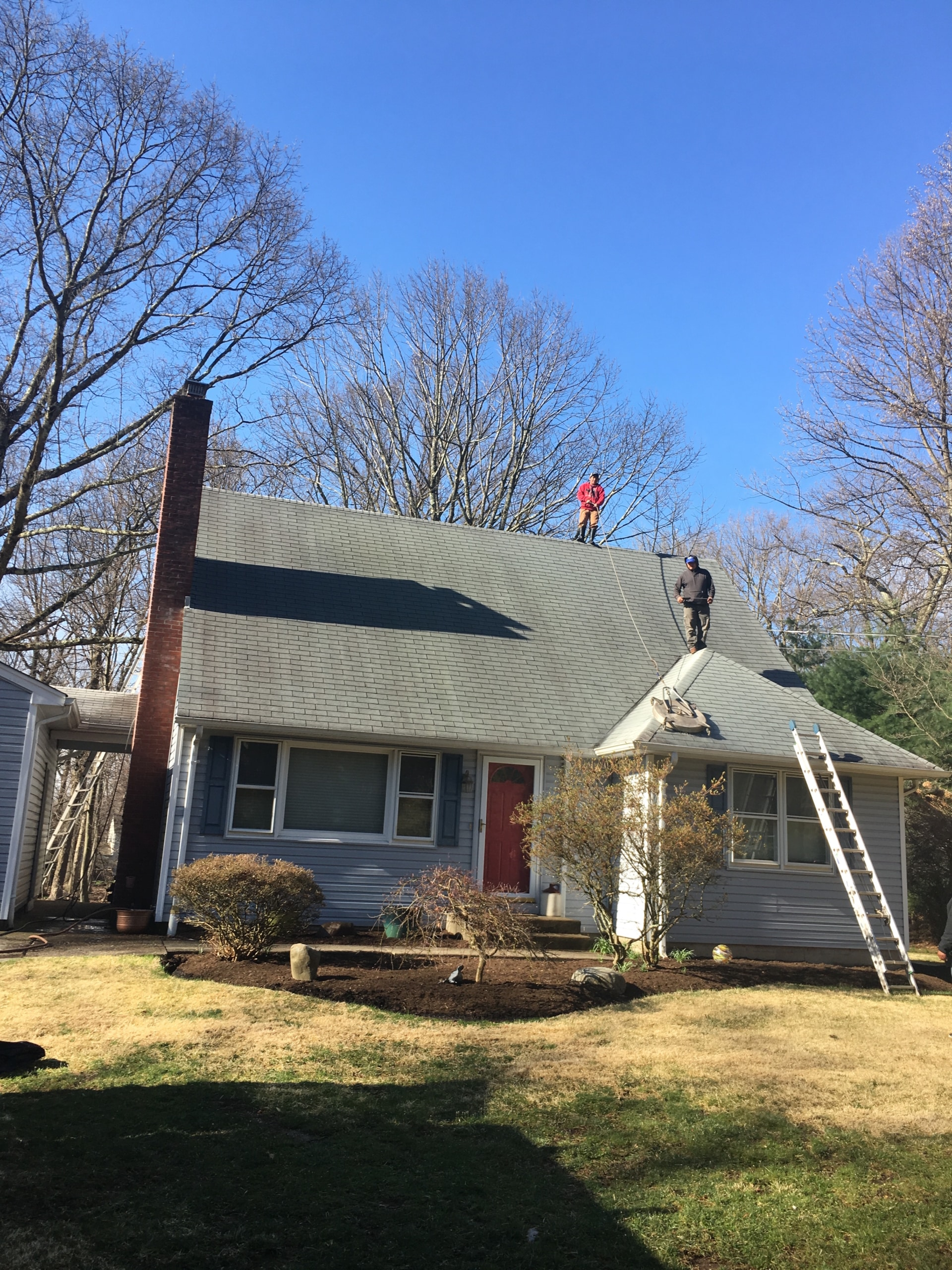 Airmont Roof Cleaning Before