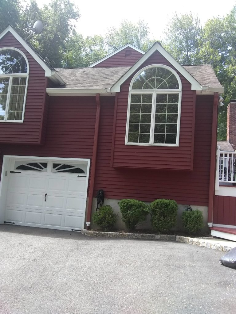 Colored Downspout Installation in Saddle River