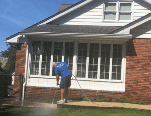 Power Washing of a Home in Paramus, New Jersey