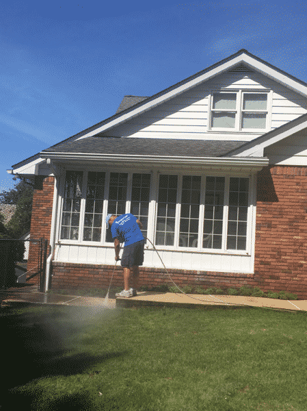 power washing of a home in paramus nj