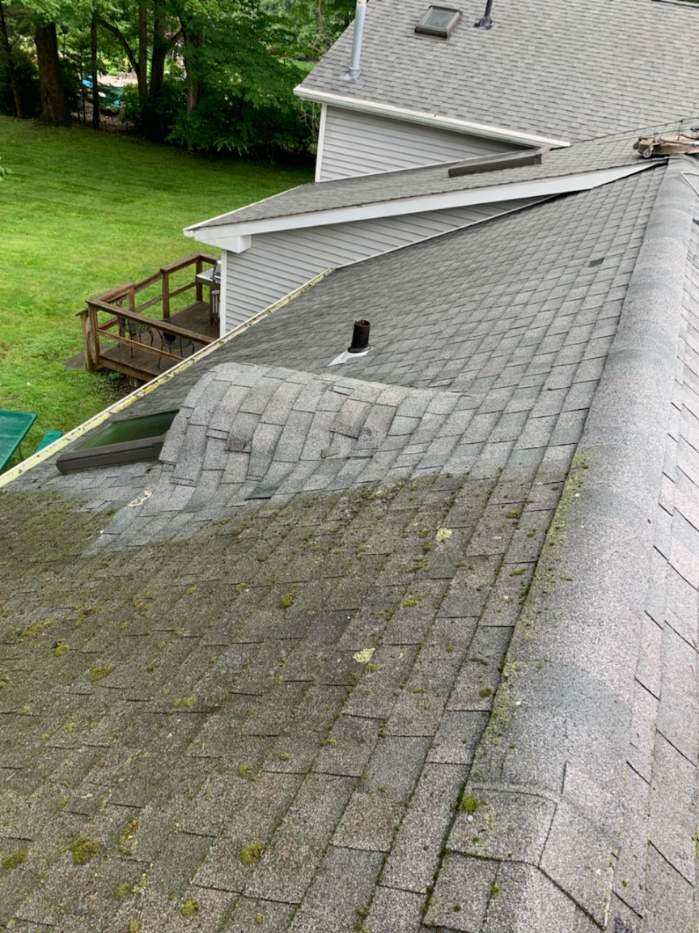 west nyack roof cleaning before and after