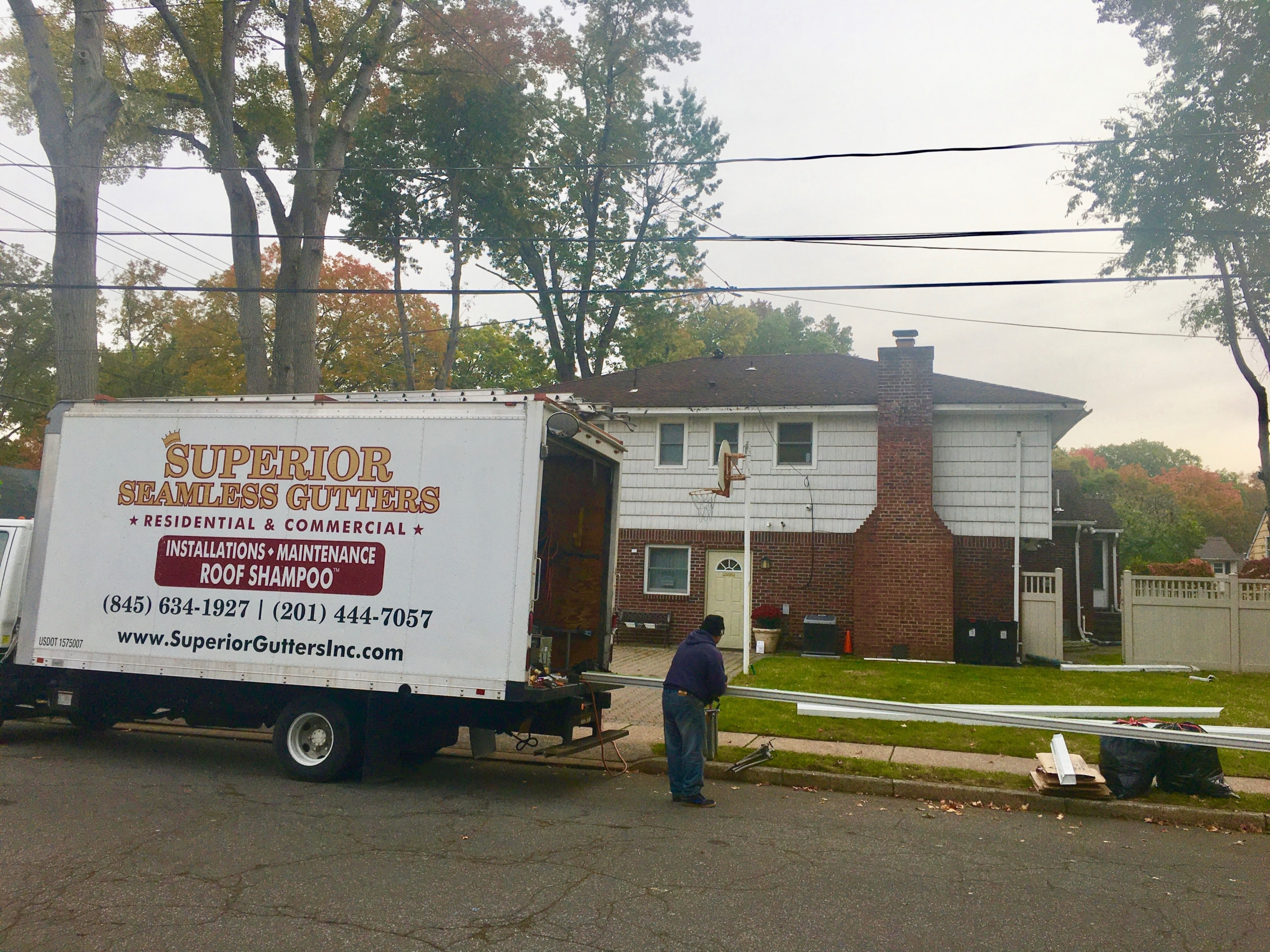 gutter installation in new milford, nj, bergen county by superior seamless gutters